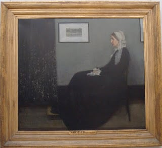 Whistler's Mother in Musee d'Orsay, Paris.