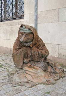 Sculpture, Rag and Bone with blanket, Stockholm
