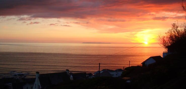 Sunset Lundy Island