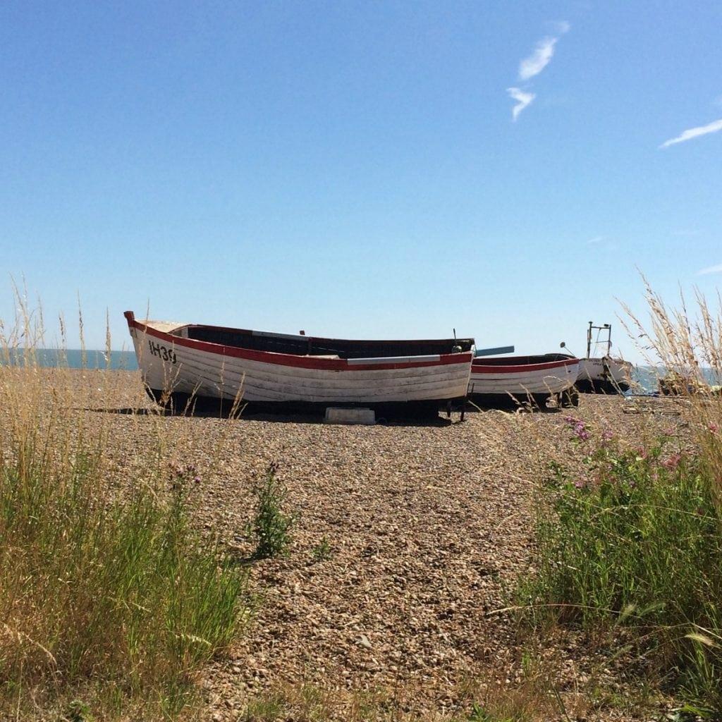 Boats on beach Aldeburgh Suffolk