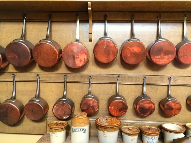 Copper pans Culzean