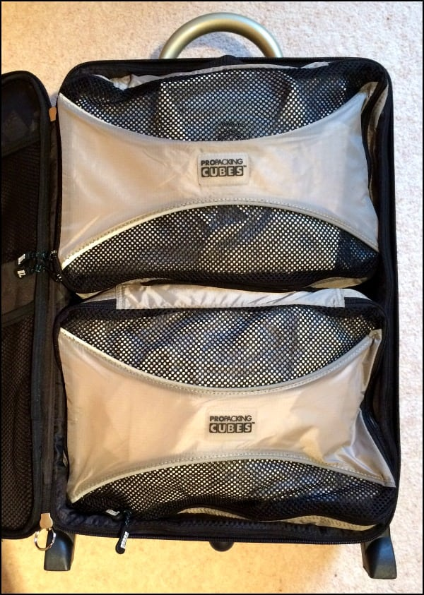 1 large and 2 mdium pro packing cubes