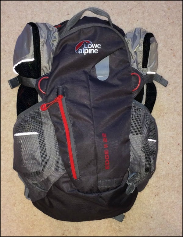 rucksack and slim packing cubes