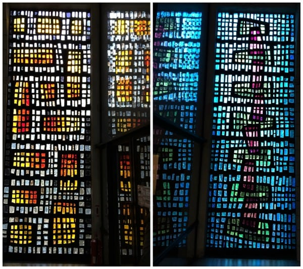 Buckfast abbey stained glass