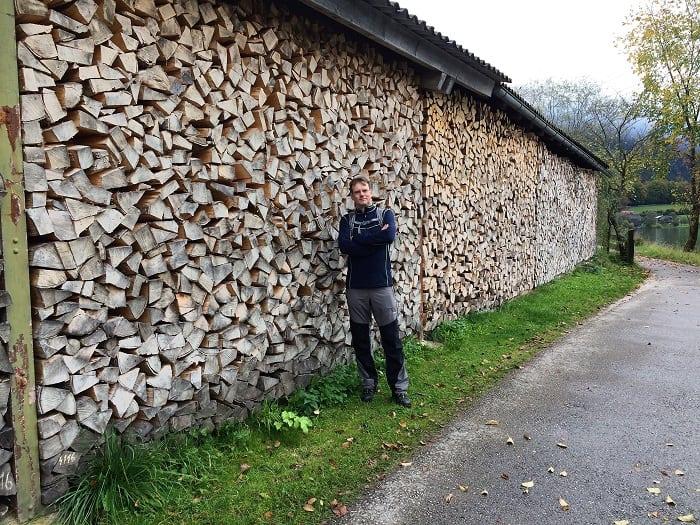 large log store in Austria