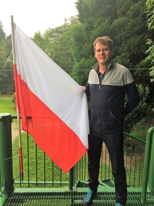 POlish flag at Great Polish map of Scotland