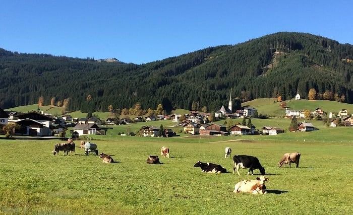 Gosau countryside in Austria
