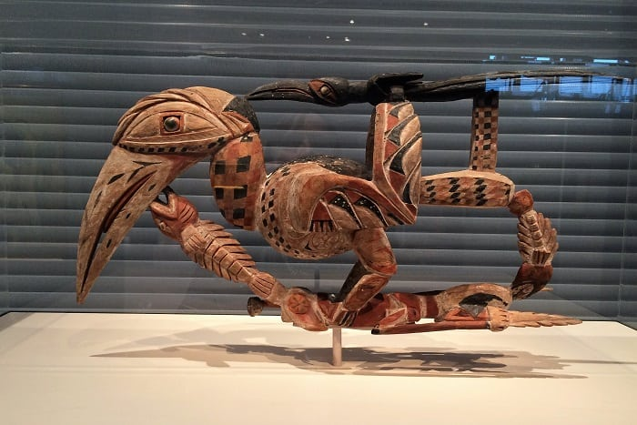 Hornbill carving at Sainsbury Centre