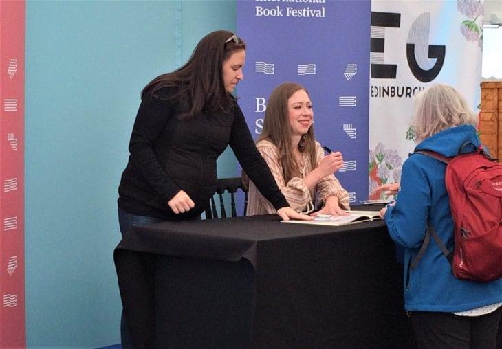 Chelsea Clinton at Edinburgh International Book Festival