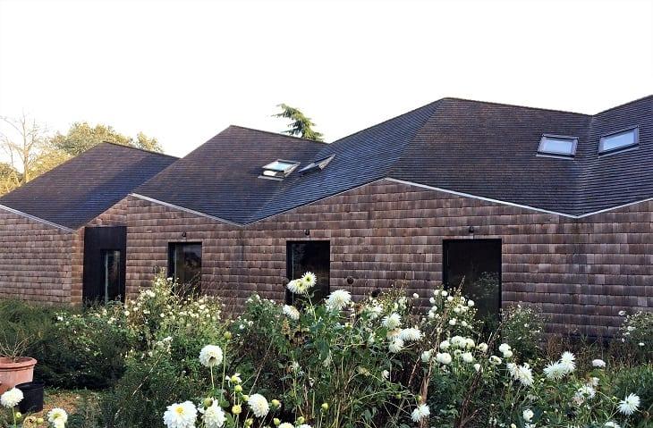 Exterior of Five Acre Barn, Suffolk