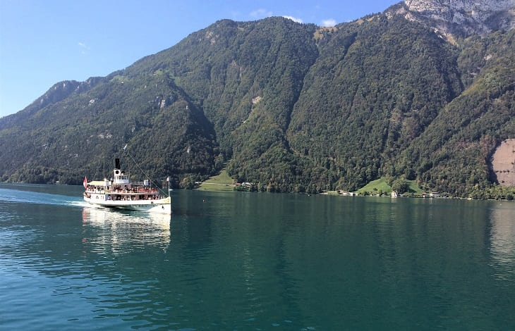 Paddle steamer on Lake Lucerne, Switzerland