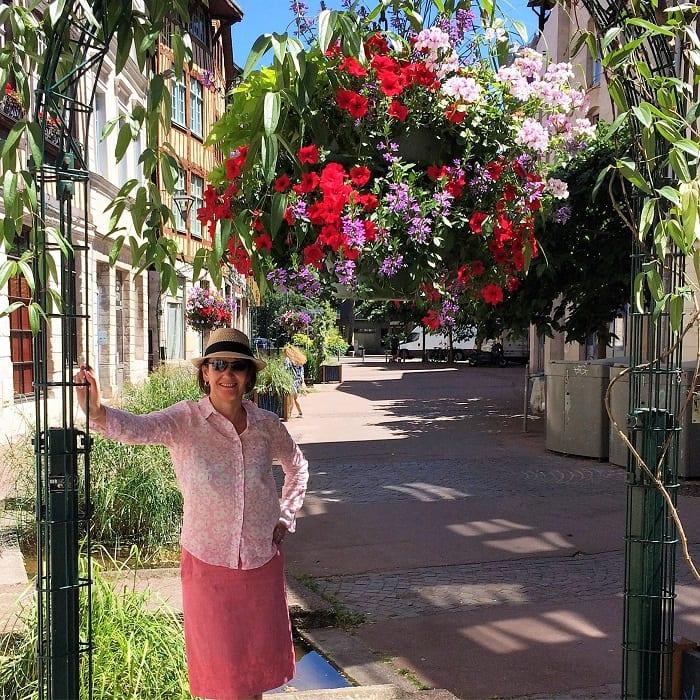 Flowers in Rouen street