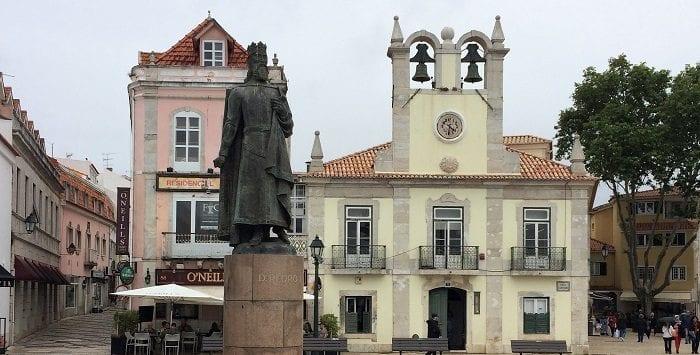 Cascais town centre in Portugal