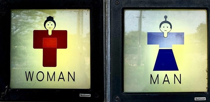 Toilet signs in Japan