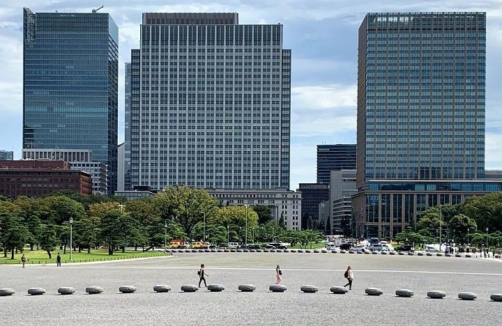 Central Tokyo city scene