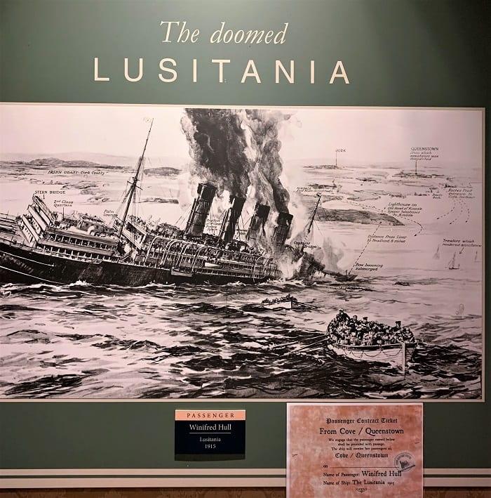 Passenger Winifred Hull, Lusitania