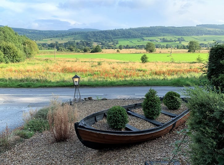 View from the Ailean Chraggan hotel, Aberfeldy