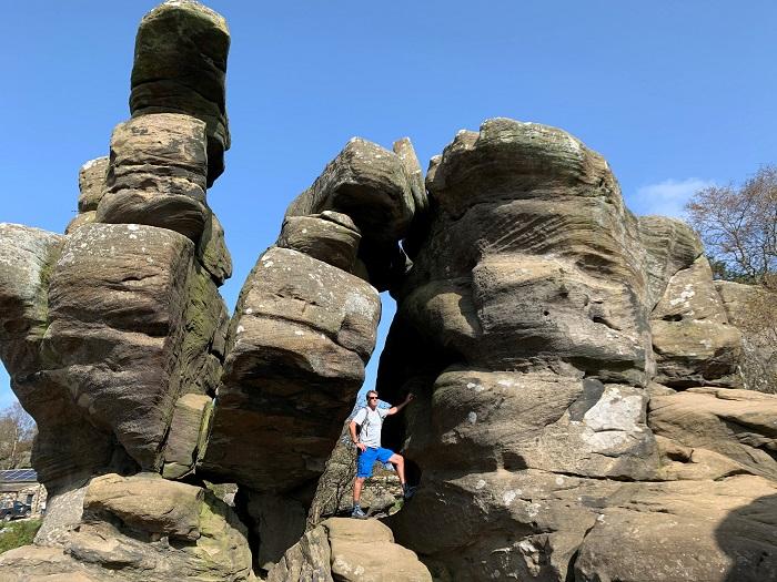 Dougie at Brimham Rocks