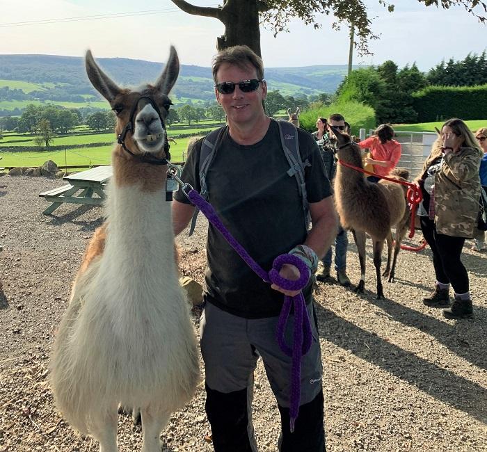 Barney and Dougie at Nidderdale llamas